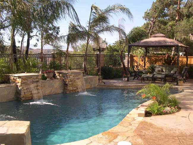 Grg pool spa pools for Natural stone around pool